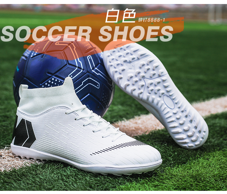 Outdoor Football Boots Men Sneakers Soccer Boots Turf Football Boots Kids Soccer Cleats AG/FG Spikes Training Sport Futsal Shoes