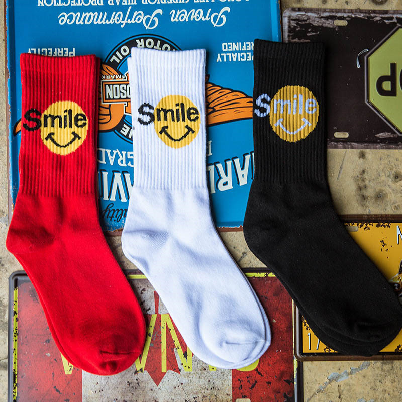 Casual Sock 1Pair New Autumn Winter Fashion Ladies Unisex Cotton For Skate Board