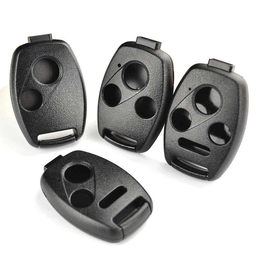 2/3/4 botões do carro remoto fob caso chave escudo para honda accord civic crv crz jazz frv piloto insight ridgeline crosstour odyssey
