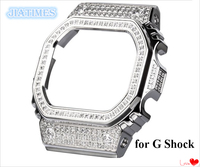Silver Color DW 5600 GW 5000 Brand New Stainless Steel Watch Bezel Simulated Diamonds for Watch Replacement