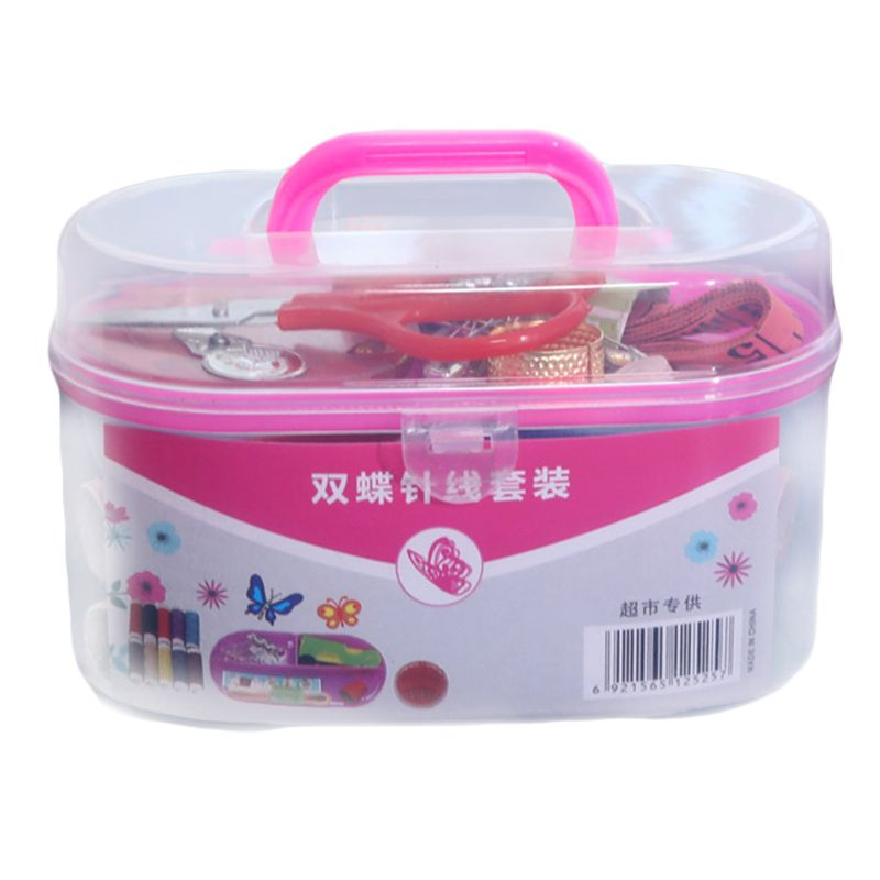 Portable DIY Sewing Thread Travel Kit Knitting Needles Tools Set Stitching Embroidery Craft Tape Measure Scissors Thimble