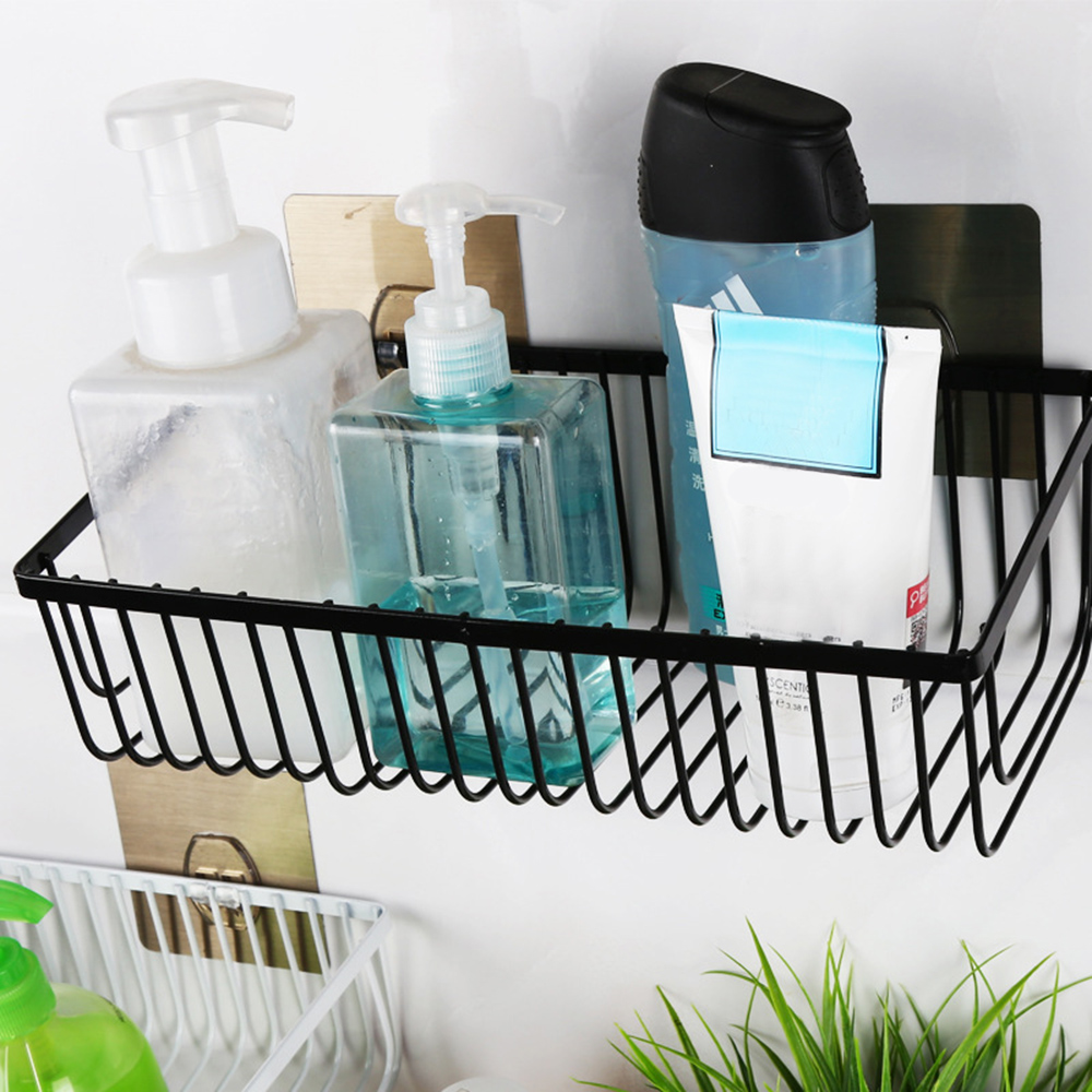 Punch Free Wall Mounted Bathroom Shelf
