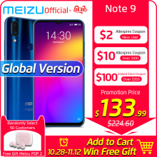 Meizu Note 9 4GB 64GB WCDMA/CDMA/LTE/GSM Mcharge Octa Core Fingerprint Recognition/face Recognition