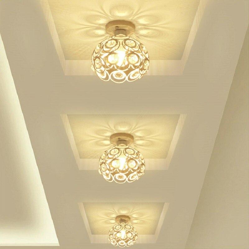 European Style Aisle Lights Corridor Lights Entrance Lights Creative Balcony Ceiling Crystal Lamp Simple Entrance Foyer Lamps
