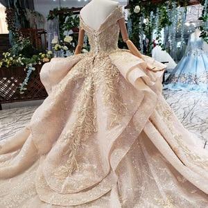 Image 5 - HTL151G plus size evening dress long with skirt off shoulder ruffle layer elegant long evening gowns dubai kaftan robe soirée