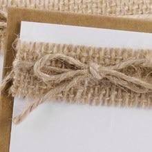 10 Uds. Manteles individuales Vintage para boda Kraft Escort Place mesa para cartas accesorios para invitados