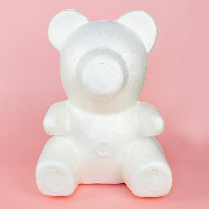 1Pc polystyrène styromousse mousse ours moule Rose à faire soi-même ours en peluche saint valentin cadeau mariage décoration événement fête fournitures blanc