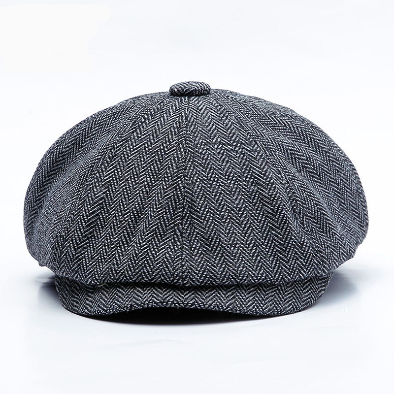 New Berets Unisex Autumn Winter Newsboy Hat Men Women Warm Tweed Octagonal Cap For Male Detective Hats Retro Flat Caps