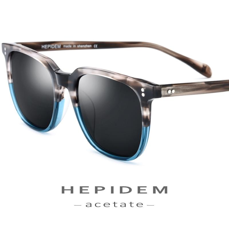 Acetate Polarized Sunglasses Men 2019 High Quality Fashion Brand Designer Vintage Square Sun Glasses For Women Goggles Sunglass