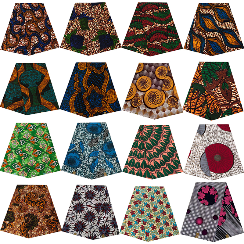 2020 Ankara African prints batik pagne dutch wax fabric for wedding dress 100% polyester high quality sewing material 6yards lot