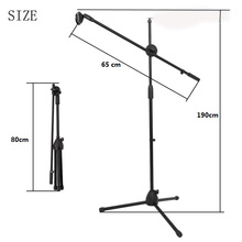 Selens Swing Boom Floor Metal Stand Adjustable Stage Microphone Stand Tripod Microphone Holder For Live Streaming Vlog