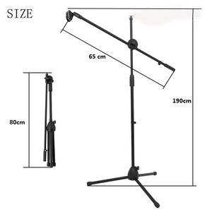 Selens Swing Boom Floor Metal Stand Adjustable Stage Microphone Stand Tripod Microphone Holder For Live Streaming Vlog(China)