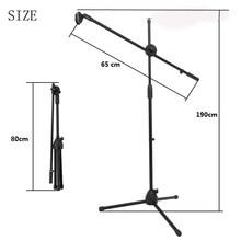 Selens salıncak Boom kat Metal standı ayarlanabilir sahne mikrofon standı Tripod mikrofon tutucu canlı akış için Vlog