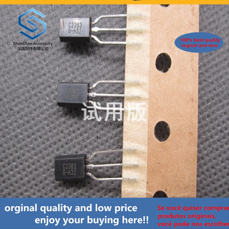 50pcs 100% Orginal New Best Quality Triode 2SC2383Y C2383 Low Power 1A 160V (TO-92L)