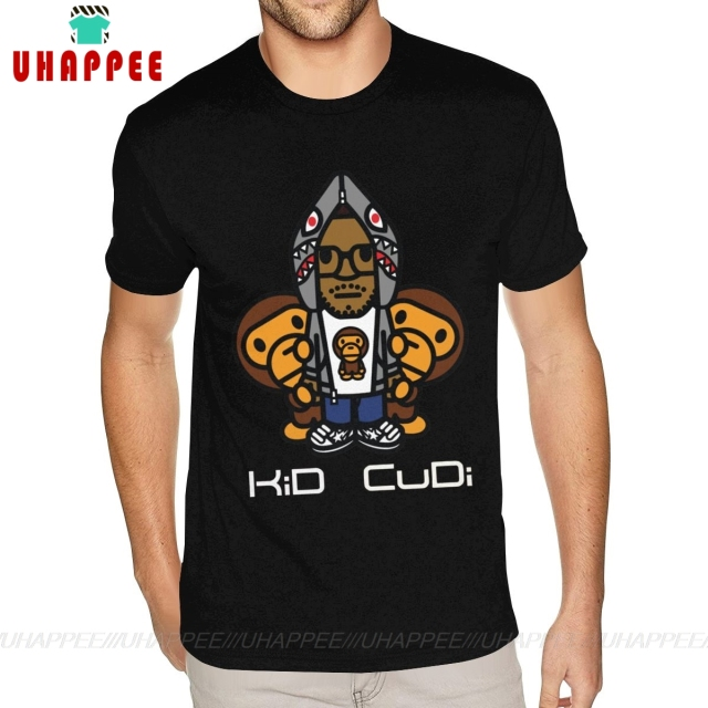 Kid Cudi Bape logo Printed T Shirt 1