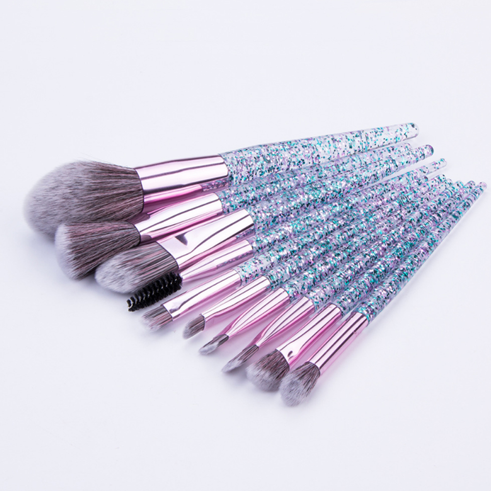 5/10 Pcs Makeup Brush Hot Styles Powder Blush Foundation Brush Cosmetic Tool Crystal Handle Brush Make Up Brush Kits Maquiagem