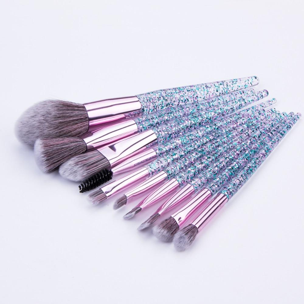 5/10 Pcs Makeup Brush Hot Styles Powder Blush Foundation Brush Cosmetic Tool Crystal Handle Brush Make Up Brush Kits Maquiagem