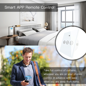 Image 4 - RF WiFi חכם מגע וילון תריסי רולר תריס מתג Tuya חכם חיים App שלט, עבודה עם Alexa הד Google בית