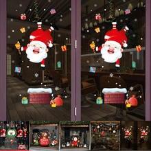 Новогодние наклейки на окно Рождество настенные для детской