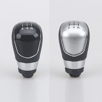Nueva perilla de cambio de marchas Manual de 5 velocidades con Bota de cuero para Ford Focus 2 2005 2006 2007 2008 2009 2010 2011 c-max Kuga Fiesta