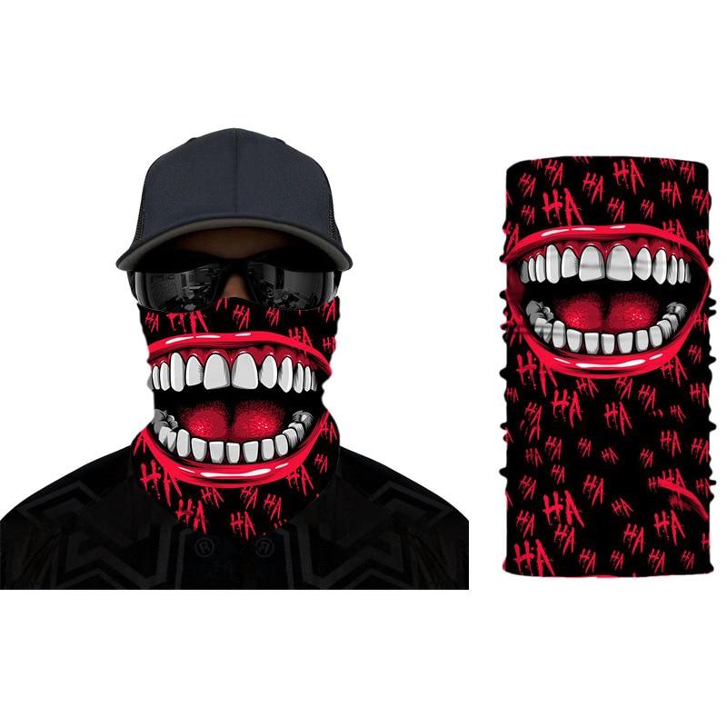 Bandana Protective  3D Printing Windproof Skull  Washable Sports Mondkapjes Reusable Cloth Mask Fashion Mouth Face Mask
