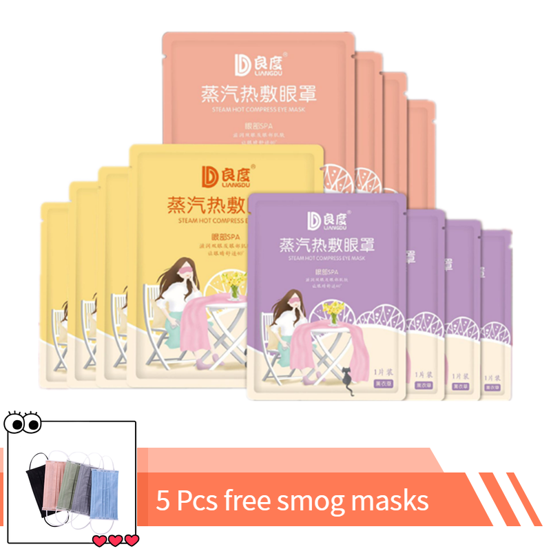 30Pieces Hot Compress Eyeshade Sleeping Eye Mask Nap Eyes Cover Sleeping Travel Rest Patch Warm Heat Soothing Tired