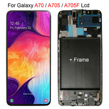 AMOLED TFT LCD for SAMSUNG Galaxy A70 A705 Display Touch Screen Digitizer Assembly A70 2019 A705F LCD For galaxy A70