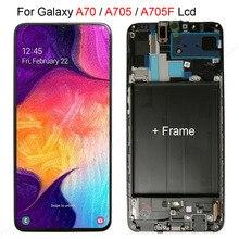 Tela digitalizadora amoled lcd para samsung galaxy, tela touch screen para samsung galaxy a70 a705, montagem a70 2019 a705f
