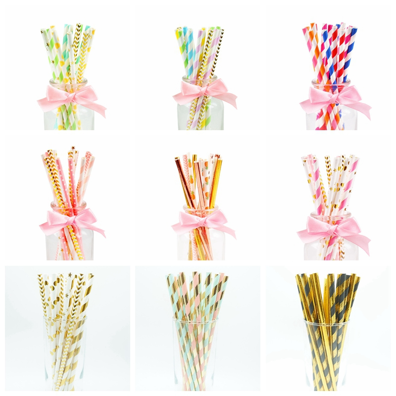 75pcs Paper Drinking Straw Rustic Wedding Table Decoration Baby Shower Boy Girl Bachelorette Party Graduation 2019 Birthday Deco|Party DIY Decorations| - AliExpress