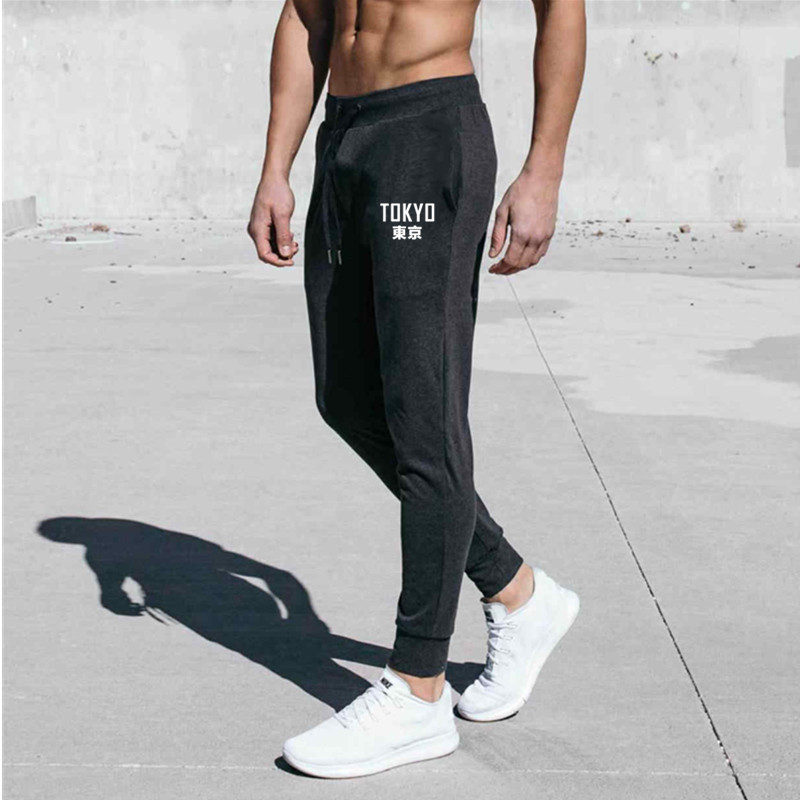 2020 New Men Cotton Gyms Fitness Bodybuilding Workout Casual Joggers Sportswear Elastic Solid Drawstring Trousers
