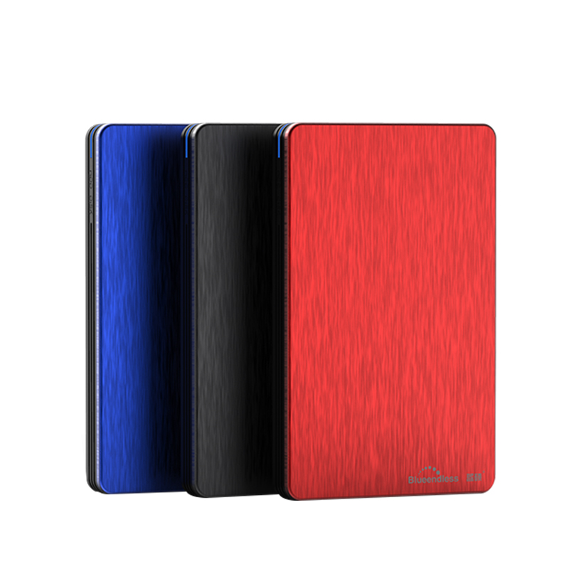 2.5 ssd external hard drive disk 9.5mm sata 500G/1TB/2TB HDD with Aluminum hdd enclosure case USB 3.0 PC disk duro blueendless