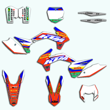 Team Decals For KTM EXC XC-W XCF-W 2014 2015 2016 Complete Motorcycle Racing Stickers Kit XCW XCFW 125 250 350 450
