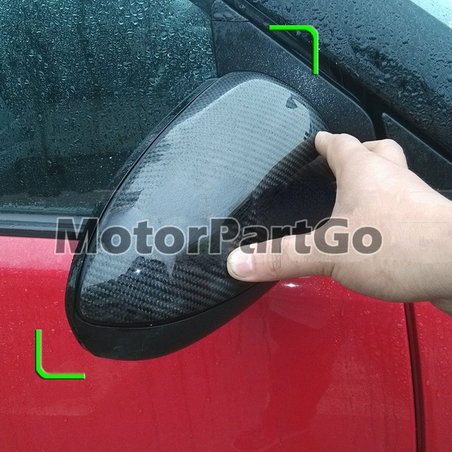 Real Crabon Fiber Mirror Cover Exchange original 1 pair for  Smart fortwo W451 2009-2013 3