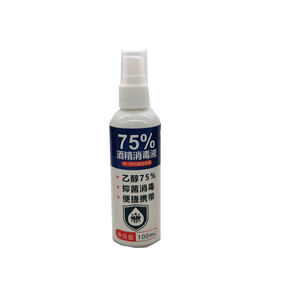 60/100ml Disposable Hand Sanitizer Ethanol Alcohol Disinfectant 75 Degree Alcohol Spray Disinfectant Gentle And Non-Irritating