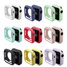 Watch Cover Case for Apple Watch 5/4/3/2/1 40mm 44mm Scratch pinkycolor colorful soft