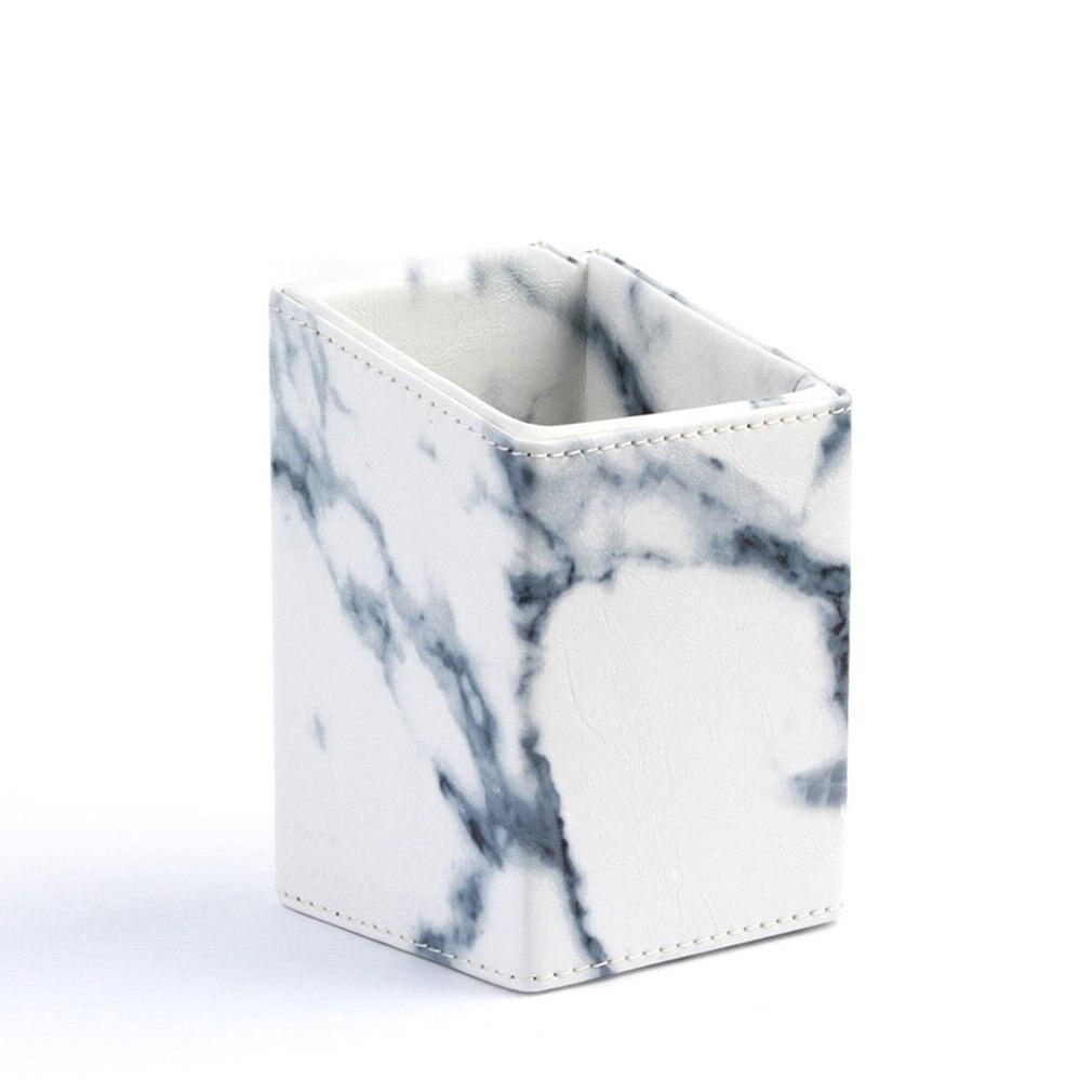 Marble Pattern Portable Makeup Brush Storage Cylinder