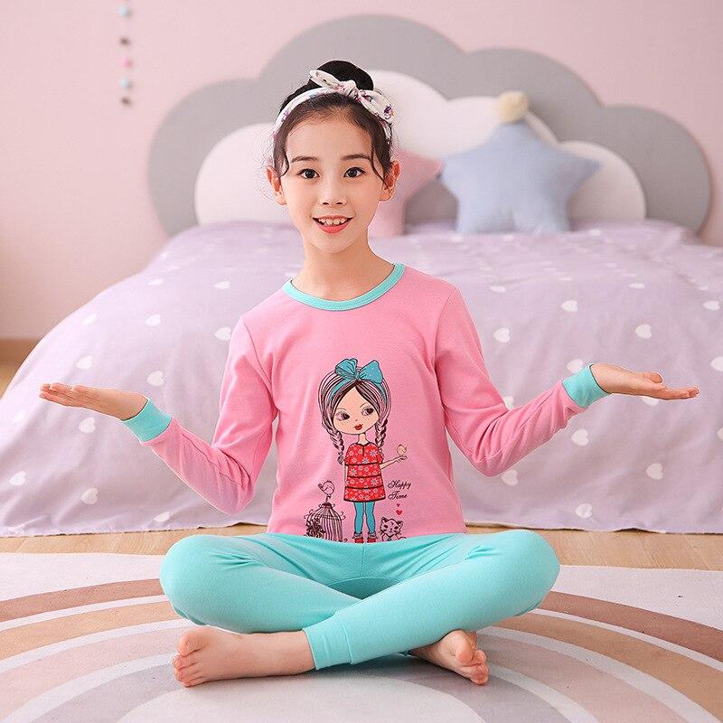 pijamas conjunto outono criancas pijamas dos desenhos 05