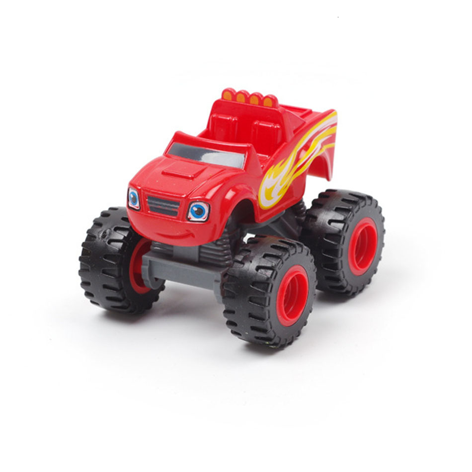 6 Style Machinery Toys Car Russian Miracle Crusher Truck Figure Blaze Monster Diecast Toy Mountain Vehicle Inertia Car Kids Gift