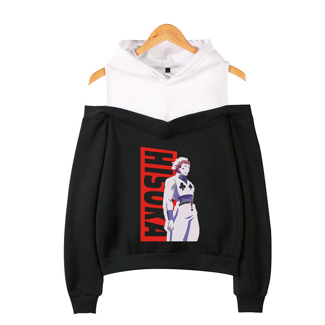 HUNTER X HUNTER CROP TOP OFF SHOULDER HOODIE (20 VARIAN)