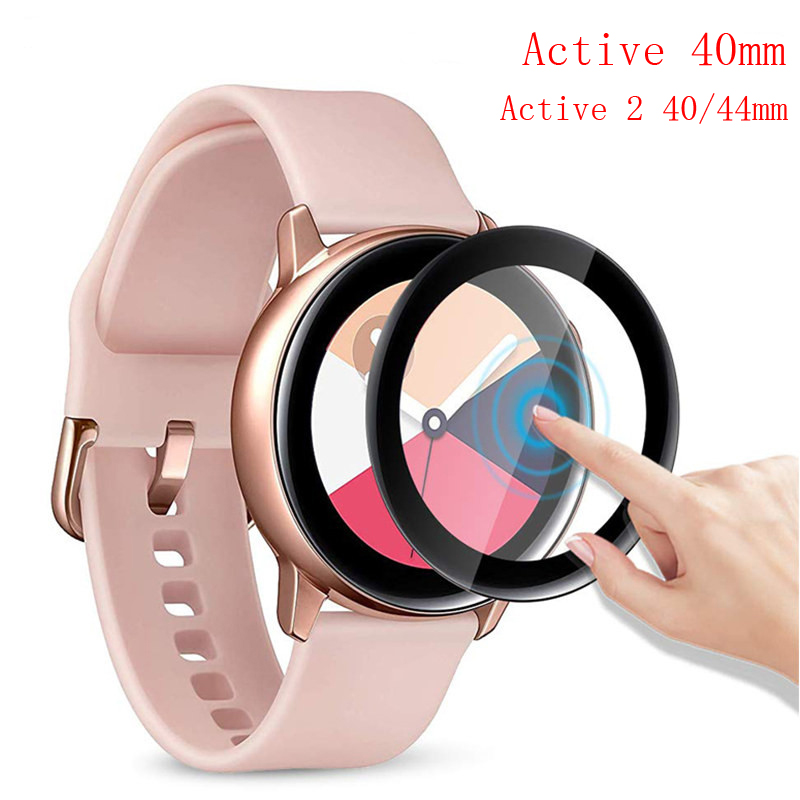 galaxy watch 46mm Glass for samsung gear s3 Frontier Full screen protector Tempered Glass bracelet active 2 40mm 44mm soft Film