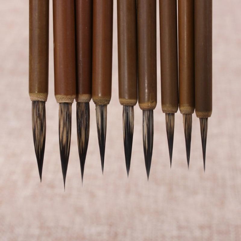 12pcs Hook Line Fine Paint Brush Pen Stone Badger Brush Chinese Calligraphy Brush Pen Art Acrylic Oil Watercolor Paint Brush