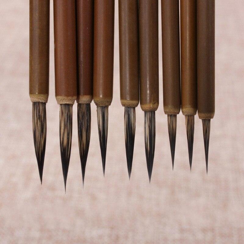 4pcs/lot Hook Line Fine Paint Brush Pen Stone Badger Brush Chinese Calligraphy Brush Pen Art Acrylic Oil Watercolor Paint Brush
