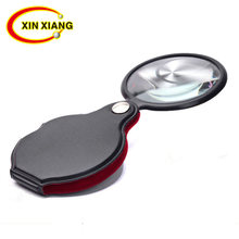 Portable Handheld Magnifier 8X Leather Magnifier Loupe Pocket Magnifying Glass Reading Monocle Jewelry Loupe Gift Glasses Lupe
