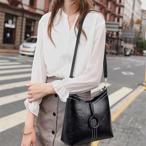 Image 2 - ヴィンテージ本革の高級ハンドバッグの女性のバッグデザイナーハンドバッグ高品質のクロスボディバッグ 2019 女性のハンドバッグ