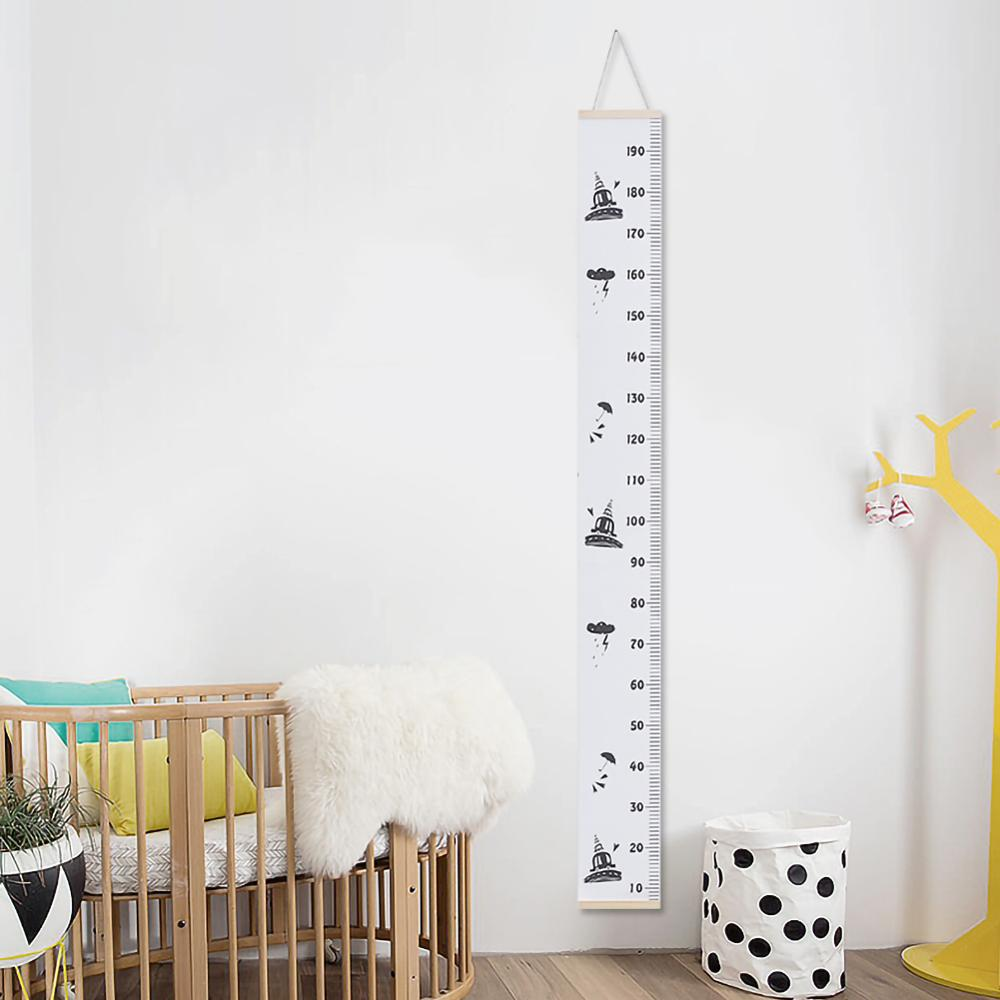 Wooden Wall Hanging Baby Child Kids Growth Chart Height Measure Ruler Wall Sticker For Kids Children Room Home Decoration