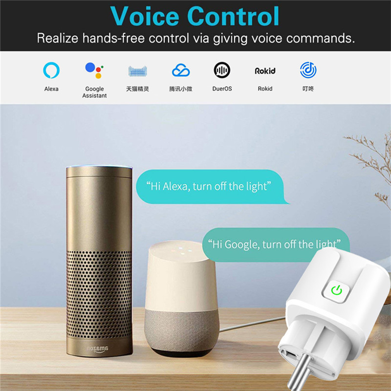 16A Tuya Wifi Smart Plug Draadloze Power Adapter Remote Voice Control Timer Power Energy Monitor Socket Voor Alexa Google Thuis 4