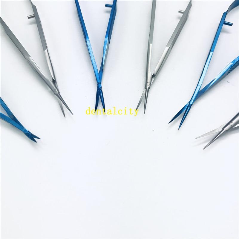 Ophthalmic Microsurgery 12.5cm Capsule Membrane Scissors Micro Scissors Titanium Alloy/Stainless Steel