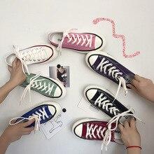 Женская Вулканизированная обувь, Бордово красная обувь для студентов, Корейская версия, на плоской подошве, черного цвета