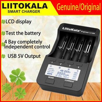 Liitokala Lii-500 Lii-402 cargador de batería Lii-202 Lii-100 Lii-400 cargador de 18650 para 26650, 21700, 18650, 18350, 14500 AA AAA batería 1