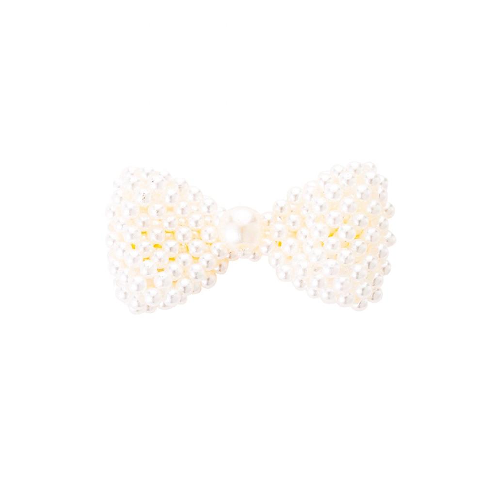 2019 Fashion hair accessories straight bow pearl   headwear   sweet geometry duckbill barrettes INS trend hair clip for women